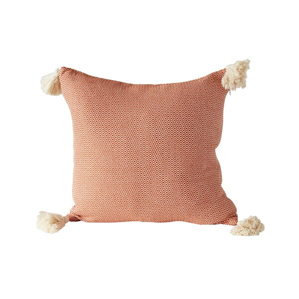 Shayla Tassel Woven 100% Cotton Throw Pillow by World Menagerie